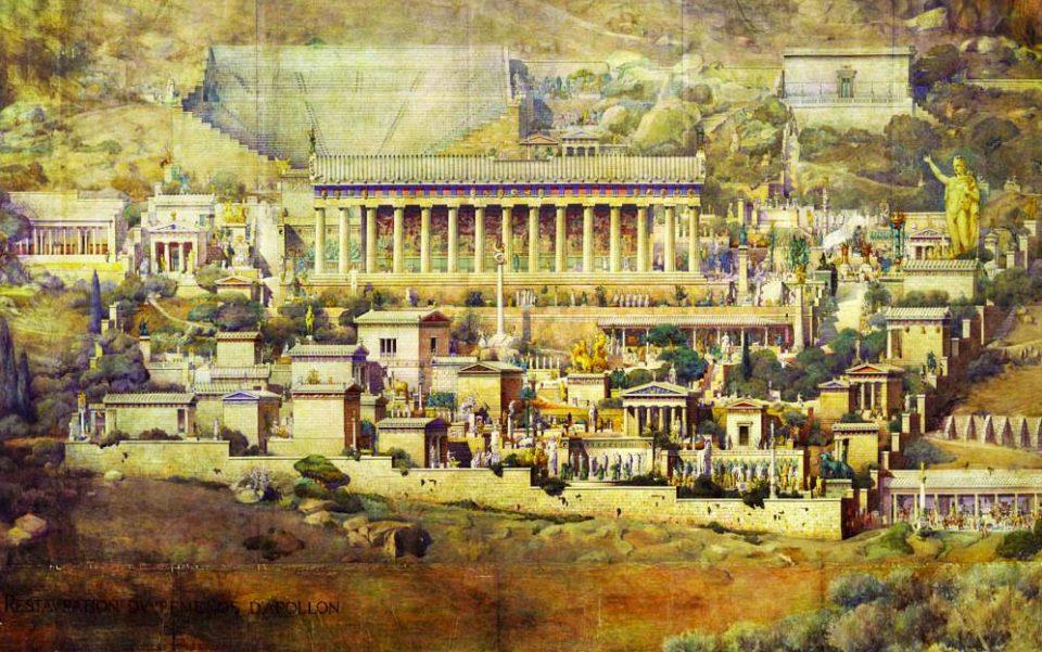 Ricostruzione del Santuario sede dell'Oracolo di Delfi