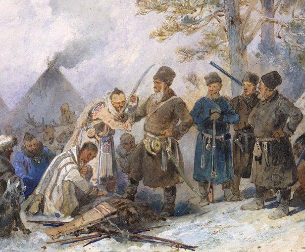 Sottomissione dei nativi siberiani ai cosacchi.