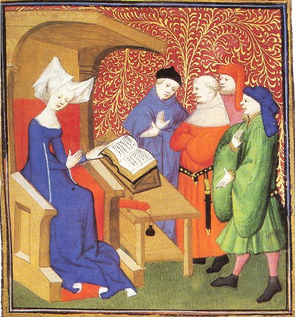 Christine de Pizan tiene una lezione.